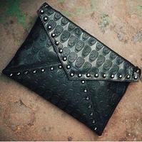 New Arrive Europe And America Skull Shoulder Messenger Bag Chain Packet Wallet Women Leather Handbags  DJ1034
