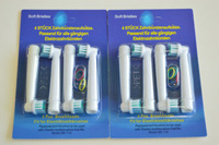 Electric toothbrush heads EB17-4 SB-17A Neutral package toothbrush head Health care 100pcs heads (4pcs=1pack) free shiping