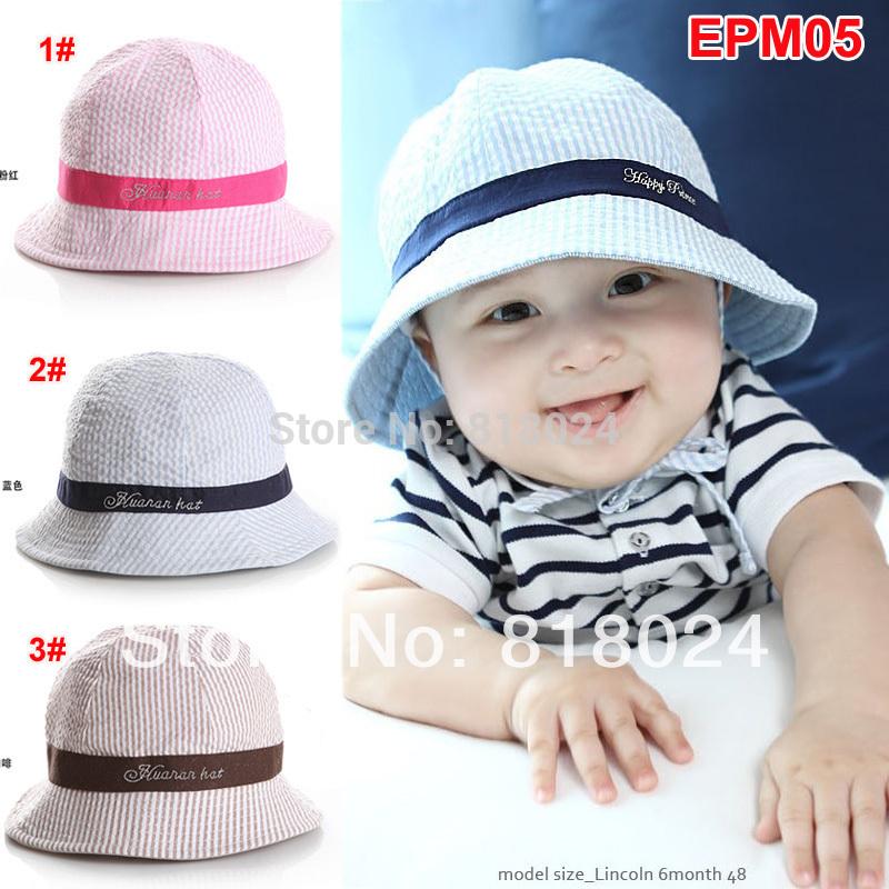 2014 Summer Striped Kid Bucket Hat, Children Sun Beach Hat, Kids Accessories, Boys Girls Outdoor Fishing Cap free shipping(China (Mainland))