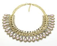 New spring Z fashion jewelry wholesale collar bib choker necklace & pendant chunky luxury choker statement necklace 2014 women