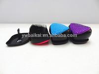 New design bling bling crystal leaf type hairbrush comb(20pcs/lot)