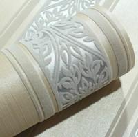 Italian Wall Paper 3D Vertical Stripe Silver Damascus Luxury Europe Velvet Flock  Wall paper Roll  Sofa Background Decor
