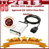 New 2014 DA-VINA 2534 JLR Approved SAE J2534 Pass-Thru Interface Tools Electric obd2 Auto Diagnostic Tool