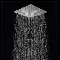 Free shipping 40cm * 40cm square showerheads. 16 inch  stainless steel ultra-thin rain shower rainfall shower head.