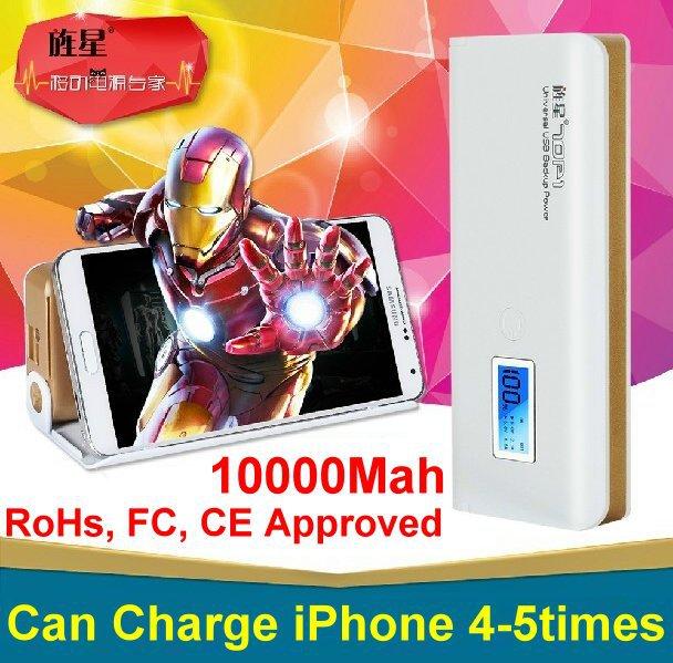 Electronic 2014 new USB 10000mah power bank batery portable highscreen boost display screen mobile carregador portable bateria(China (Mainland))