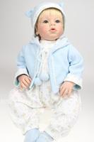 28 inches silicone vinyl  reborn baby boy reborn toddler baby dolls lifelike baby toys