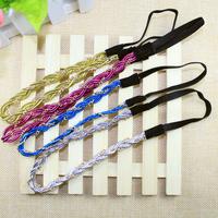 Summer 2014 new arrival wholesale 6 pieces/lot fashion chain braid elastic hair bands women sports headbands girls accessories