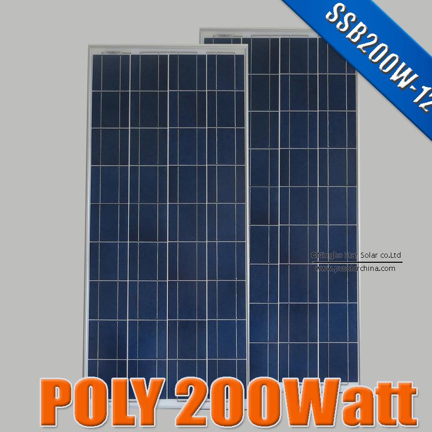 200W 100W X 2PCS Polycrystalline silicon Solar Panel Solar cells 125 x 125, 200 Watts Poly Solar Module 12V photovoltaics kits(China (Mainland))