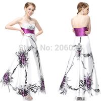 08091 Elegant Strapless Weddings Events Sequined Rhinestones Ruched Waist Evening Gowns Dress 2014 vestido de festa