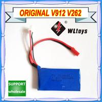 Free shipping Wholesale WL V912 V915 V262 spare parts 7.4V 850mAh battery V912-21 for WL V912 2.4G 4CH RC Helicopter 10pcs