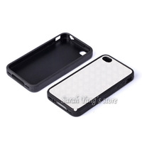Free Shipping! DIY 2D Sublimation Blank TPU+PC Case and 3M Glue with Aluminum Inserts for iphone 4/4s