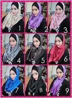 hw086 new designs 2015 silk muslim long scarf islamic hijab arabic shawl free shipping by DHL,fast delivery