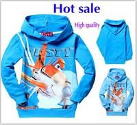 Hot sale New 2015 100% cotton fashion print hoodies Long Sleeves Cartoon Children t shirt boys clothes kid Tops Clothing 5448