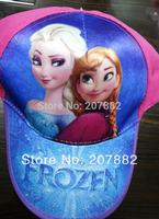 100pcs/Lot Free Shipping!2015 The Newest Movie Character Elsa and Anna Princess Sun Hats Cartoon Children Visors A3256 Wholesale