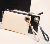 2014 NEW Fashion Women Leather Day Clutches Casual Women Leather Handbags High Quality Women Shoulder Bags HB-098