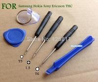 100sets/ bag 6 piecebMobile phone repair tool set kit  PH000 T5 T6 applicable Nokia Sony Ericsson mobile phone repair tool