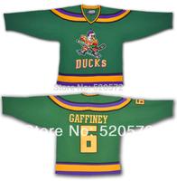 Cheap Gaffney Mighty Ducks #6 Anaheim Hockey Jerseys 1996 - Customized Jersey With Any Number, Any Name Sewn On XXS-6XL