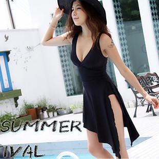 2014 sexy plus size swimwear one piece swimsuit dress bathing suits swim wear swimming suit for women swimdress maillot de bain(China (Mainland))