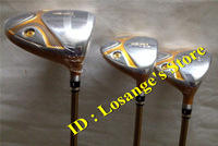 4 Star HONMA Beres S-02 Golf Wood Set Complete Set With Graphite R Shafts Driver 9loft Fairway Woods #3#5 Golf Clubs Headcovers