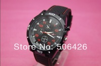 New arrival Mens BLACK BIG DIAL GRAND TOURING GT sports quartz watch with Japan movt freeshipping 10pcs
