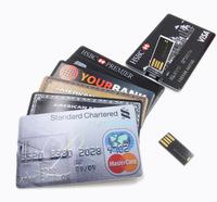 Real 2G/4G/8G/16G/32G Bank Credit Card Shape USB Flash Drive Pen Drive Memory Stick,Drop Shipping+Free Shipping
