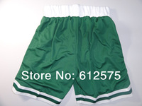 Free Shipping Green Basketball jersey cropped trousers  casual shorts beach shorts basketball shorts