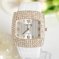 2014 New Fashion Ladies Leather Crystal Diamond Rhinestone Watches Women Beauty Dress Quartz Wristwatch Hours for women