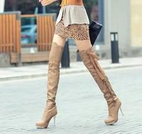bota montaria 2014 knee-length botas women leather salto alto boots ultra high heels thin heels boots bota women cano longo