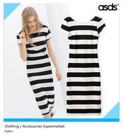 Free shipping fashion new 2014 wome's summer dresses slim striped short-sleeved zebra dress