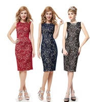 Free Shipping  05336 Ever Pretty New Charming Stylish Black Lace Social  Short Summer Formal Casual Pencil Dress To Party 2014