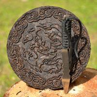 3.53 oz Chen Cha Da Hong Pao Tea Cake with Tea Knife, Chinese traditional Wuyi Rock Tea, dragon pattern, free shipping