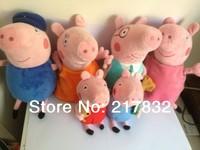Pre-Sale Anime Baby Toys Big Peppa Pig Family Memer Stuffed Plush Doll Peppa Pig Toys Grandpa Pig Granny Pig