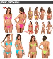 Wholesale 12 Solid Colors Cheapest  two-piece bikini swimsuit  sexy bikini women