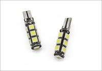 100  Error Free SMD 13 LED White Light Bulb Free Shipping Car Led Lamp Error Free Bulb Wholesale  T10 Canbus led W5W 194 5050 13