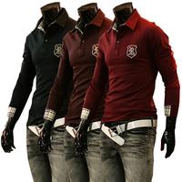 The 2014 New Free shipping Foreign trade wholesale polo men casual shirt long sleeve men's Polo shirt