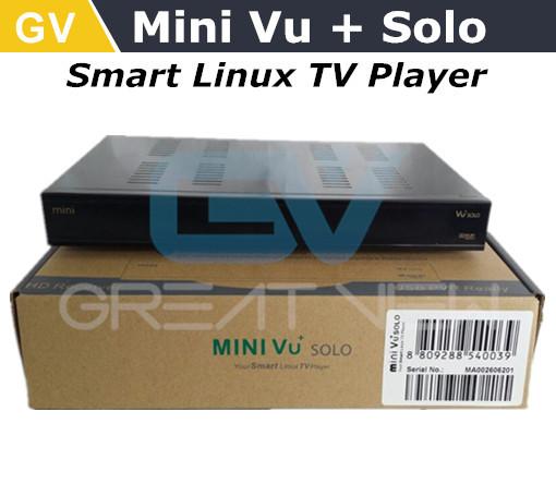 Receptor DVB- S2 HD Enigma2 baseada 2pcs / lote DHL mini- Frete grátis VU + Solo Linux com leitor de TV DVB- S2 único sintonizador inteligente Linux(China (Mainland))