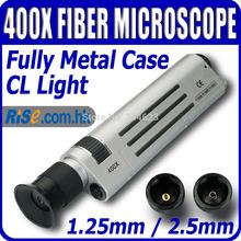 Óptica óptica âmbito 400x ampliação CL de fibra de luz microscópio(Hong Kong)