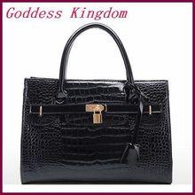 2014 new popular crocodile pattern women handbag Super Star vintage women shoulder bag PU leather Women leather bags A5004(China (Mainland))