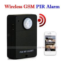 Alarma 1pcs Mini Wireless PIR Sensor Infrarrojo Detector de movimiento GSM Sistema Antirrobo negro Dropshipping A9(China (Mainland))