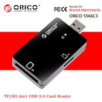 ORICO 5566C3 Multi in 1 Portable TF / T-Flash / Micro SD / SD / USB 3.0 Hi-Speed Memory Card Reader