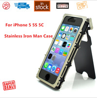 Free Shipping Stainless Metal Aluminum Flip Case for iPhone 5 5S 5C