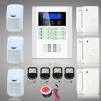 LCD Keypad Wireless PSTN  SMS GSM Home Security System With Internal Antenna Motion Sensor Door Sensor
