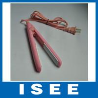 Big sale Free shipping Mini Pink Ceramic Electronic hair straighteners 220-240V Straightening corrugated Iron