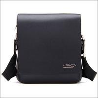 Hot Sale Brand 2014 New Arrival Fashion Mens Messenger Bags Genuine PU Leather Men Shoulder Bag Black Brown NO922 free shipping