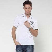 Hot 2014 Summer Men Brand Turn-down Collar T Shirt Casual Slim Fit Sport Tees High Quality
