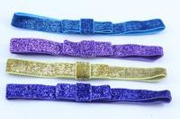 14 Colors Baby Elastic Headband Flicker FOE Headband Good elastic FOE Hair Band for Girls 50pcs/lot