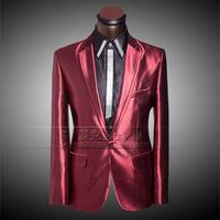 New Men Groom Casual Custom Wedding Dress Prom Suit 2014 Mens Suits Tuxedo Business Presided Slim Red Suit For Wedding Blazer