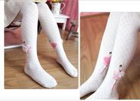 Female children pantyhose 100% cotton baby girl ballet princess dance pants 2014 spring autumn female child tight