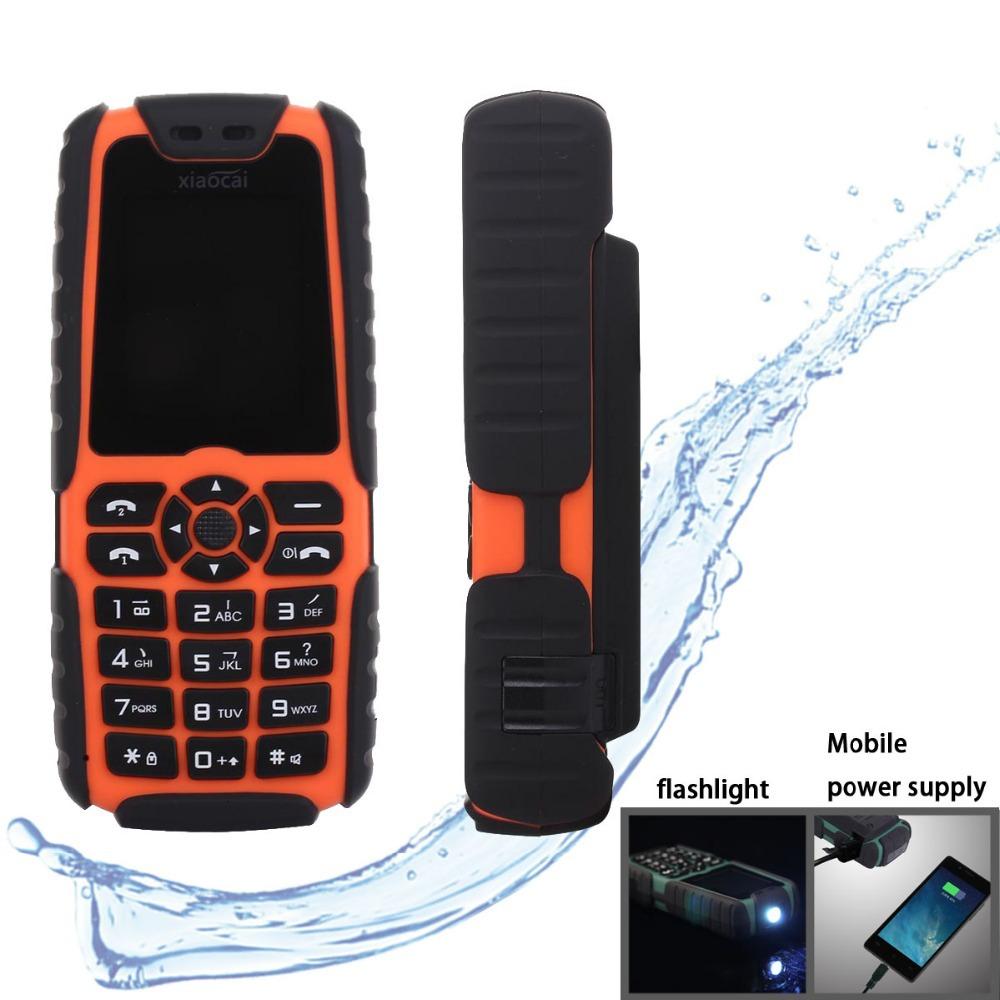 Xiaocai X6 Rugged Phone With Flashlight Shockproof Dustproof Dual SIM GSM Huge Battery 5000Mah Power Bank Russian Keyboard(China (Mainlan