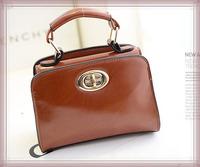 Wholesale !! New 2014 Spring and Summer Hot Women Messenger Bags  Mini Turn Lock Women Clutch Ashion Goker Women Handbags